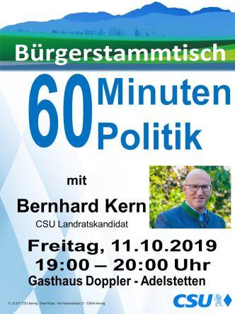 Plakat CSU Stammtisch - Bernhard Kern -332-