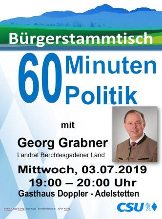 Plakat CSU Stammtisch - Grabner
