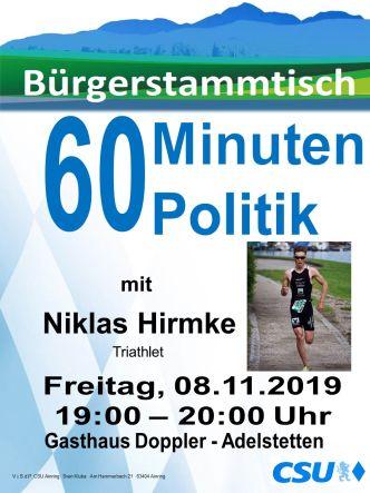 Plakat CSU Stammtisch - Hirmke
