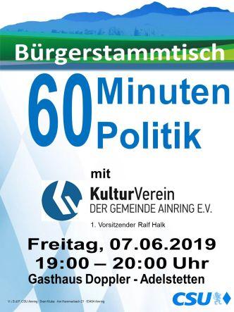 Plakat CSU Stammtisch - Kulturverein