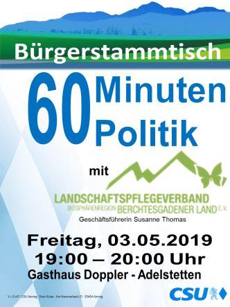 Plakat CSU Stammtisch - Landschaftspflegeverband
