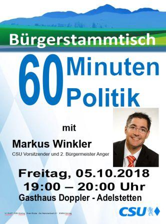 Plakat CSU Stammtisch - Winkler -332-